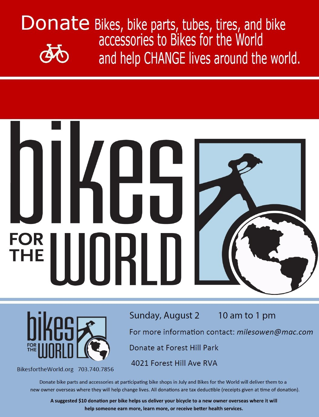 Bikes For The World Org Just bring your used bikes