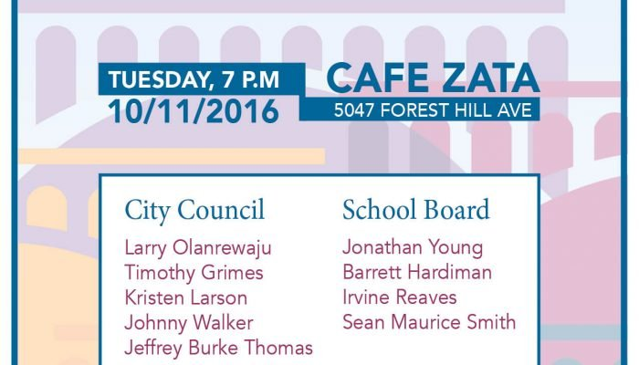 Reminder: Candidate Forum Tues. Oct. 11