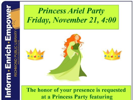 Princess Party at the Westover Hills Library