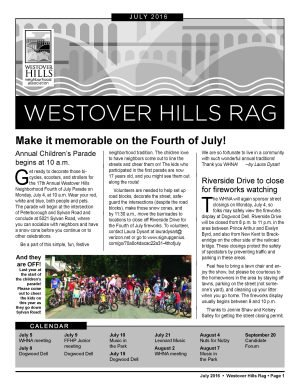 July 2016 Rag is here!