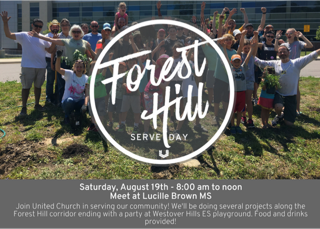 Forest Hill Corridor Serve Day to be held August 19