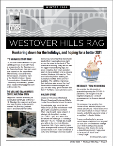 Cover of the Winter 2020 Westover Hills Rag